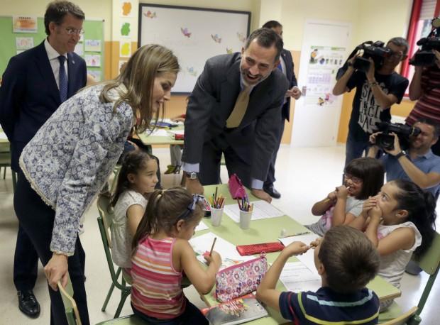 Los reyes en la inauguración del curso escolar. (Lavandeira jr/EFE)