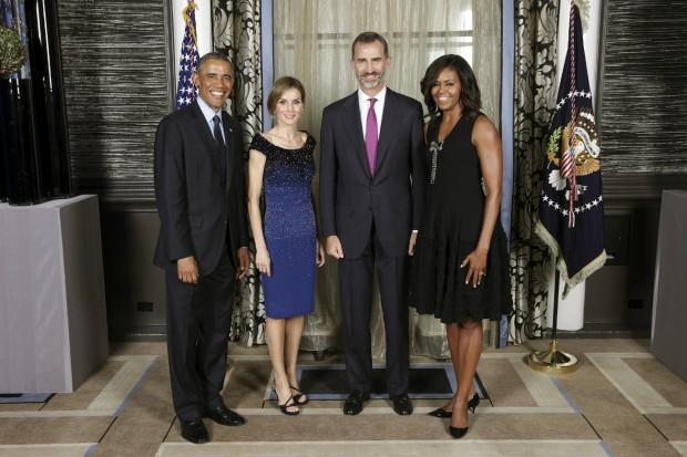 La Reina Letizia celebró su 43 cumpleaños con los Obama en 2014, coincidieron en la Asamblea de Naciones Unidas en Nueva York
