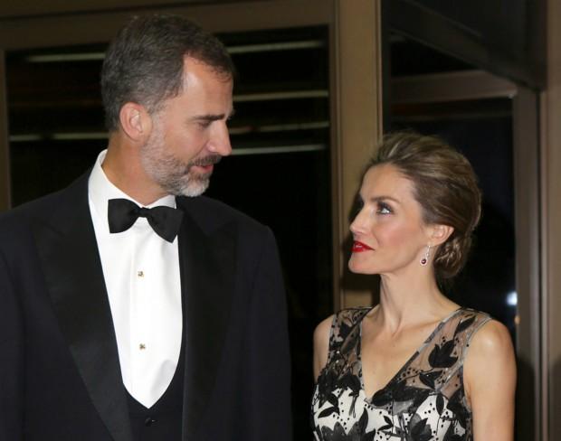 Letizia y Felipe, mirándose con amor. (GTRES)