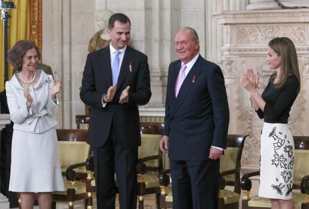 Y aquí en la abdicación de Juan Carlos I. (GTRES)