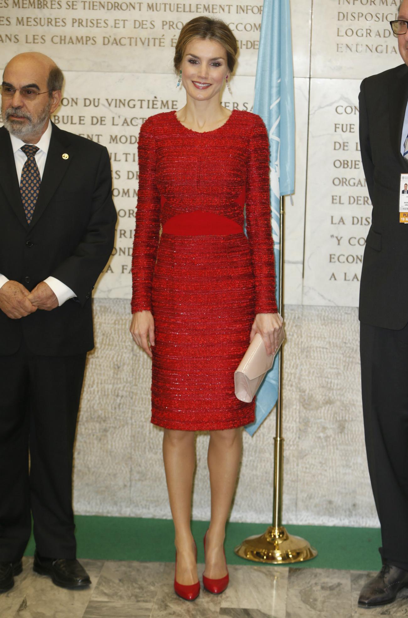 Letizia, la mujer de rojo. (GTRES)