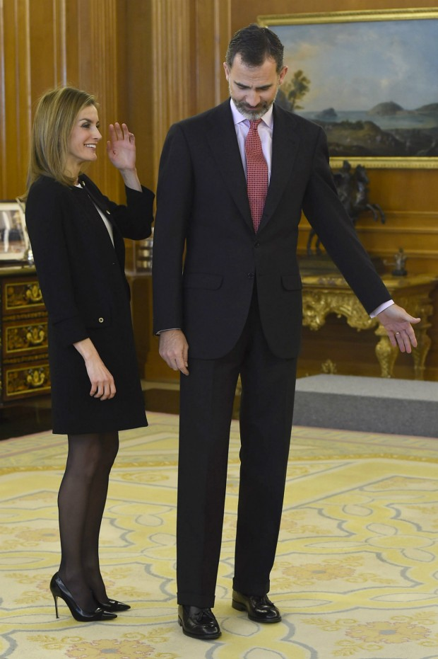 Letizia, muy minifaldera