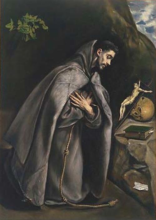 San Francisco de Asís en oración, pintado por El Greco.
