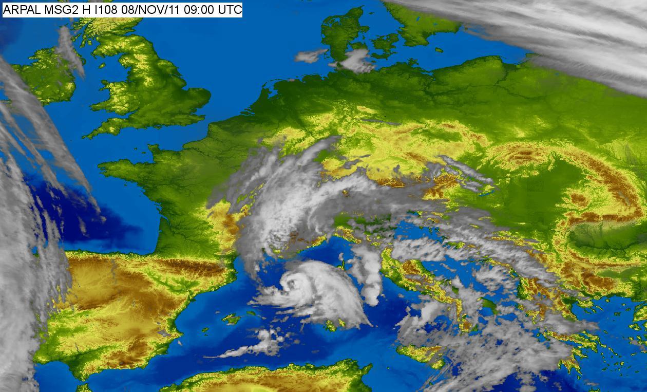 Ciclón tropical 01M (o medicane) en en Mediterráneo