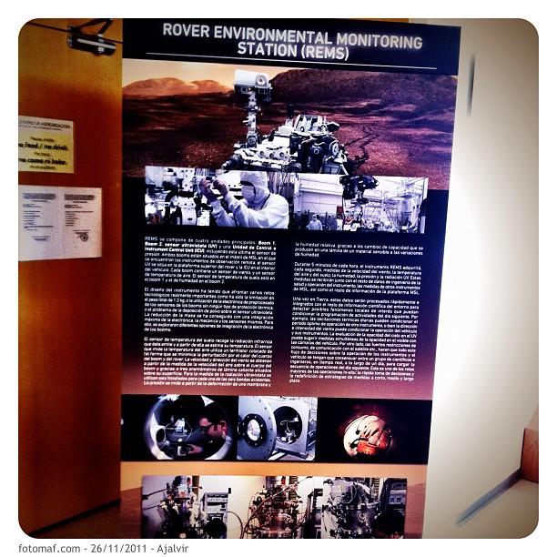 Poster del Centro de Astrobiología. Foto: Mauro aka @fotomaf