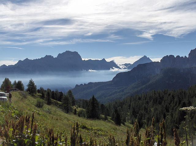 Inversión térmica en Cortina d´Ampezzo. Foto Gainan, Flicker CC