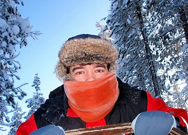 Hace dos años en Laponia, con una sensación térmica congeladora...