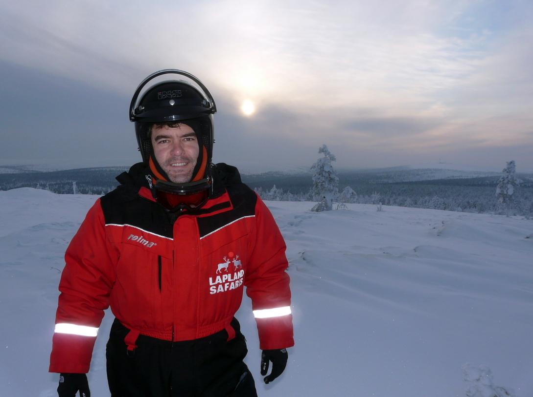 Sol de Febrero en Laponia a mediodía. Ya no sube más...