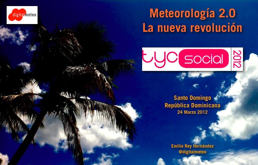 Presentación de mañana en tycSocial 2012, en RD.