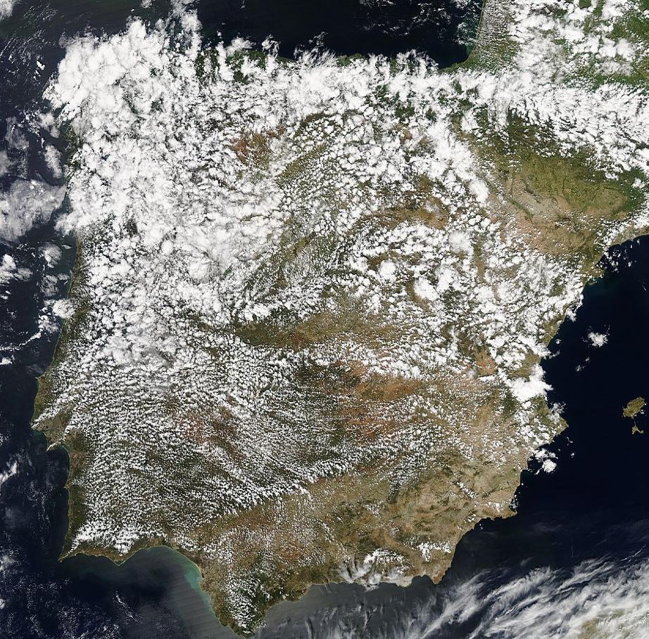 La península, el 6 de Mayo. Ojalá la podamos seguir viendo así. Fuente: MODIS.