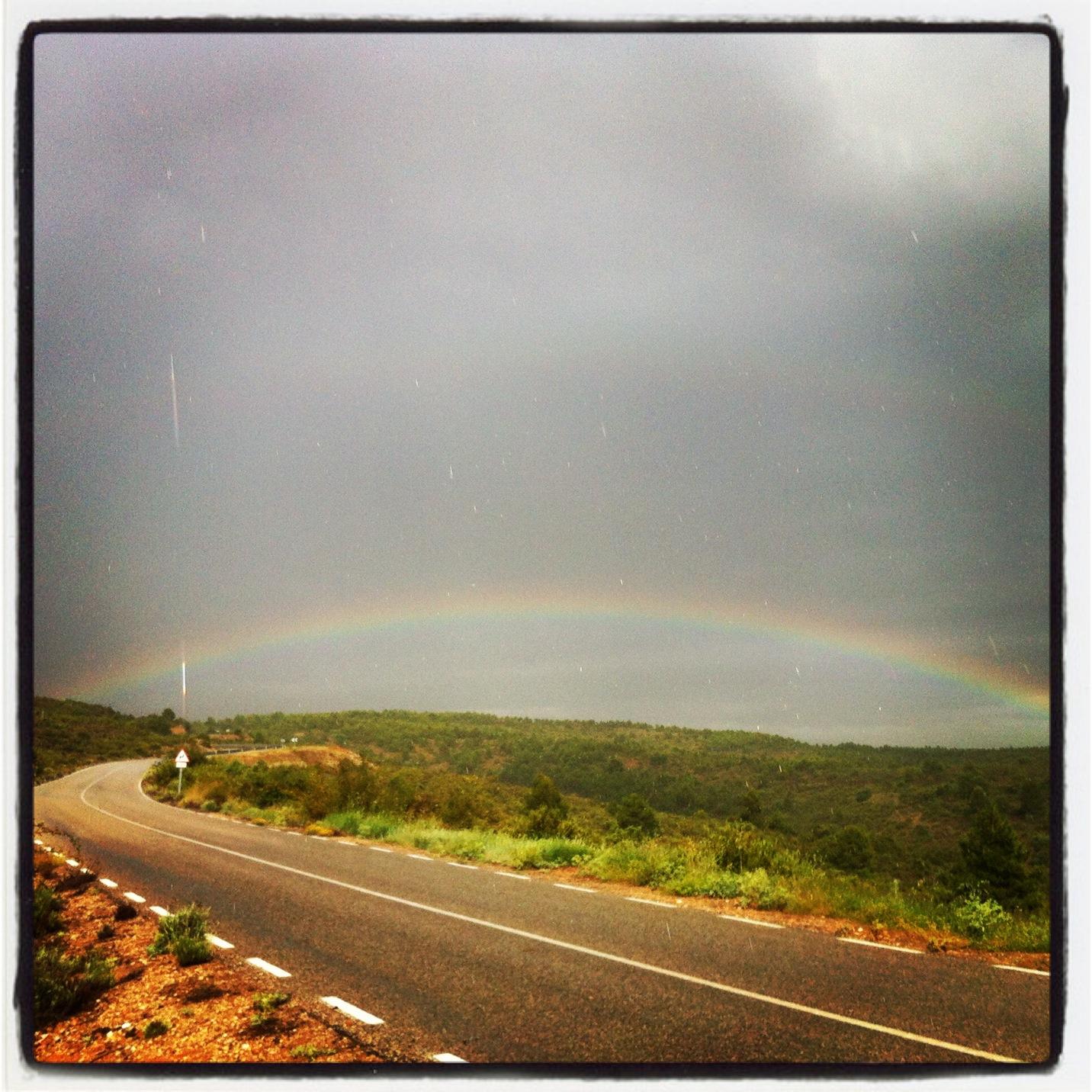 Una de las recompensas de ayer, cerca de Olmeda del Rey, Cuenca. Foto ER.