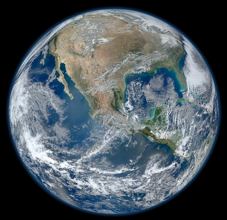 El continente americano. Credit: NASA/GSFC/Suomi NPP