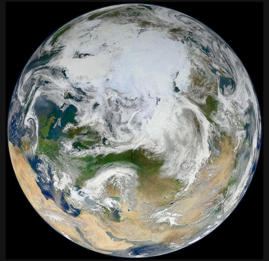 Maravilloso Artico. Credit: NASA/GSFC/Suomi NPP