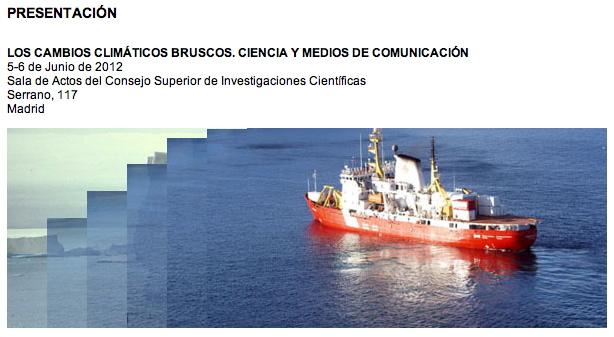 Jornadas sobre Cambio Climático Brusco, en el CSIC