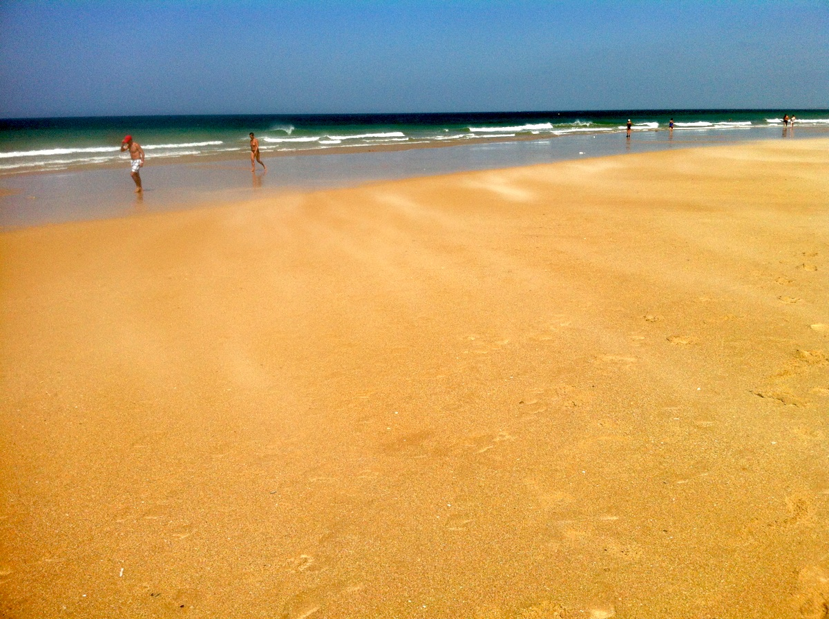Viento de levante en la playa de El Palmar, Cádiz. Foto ER.