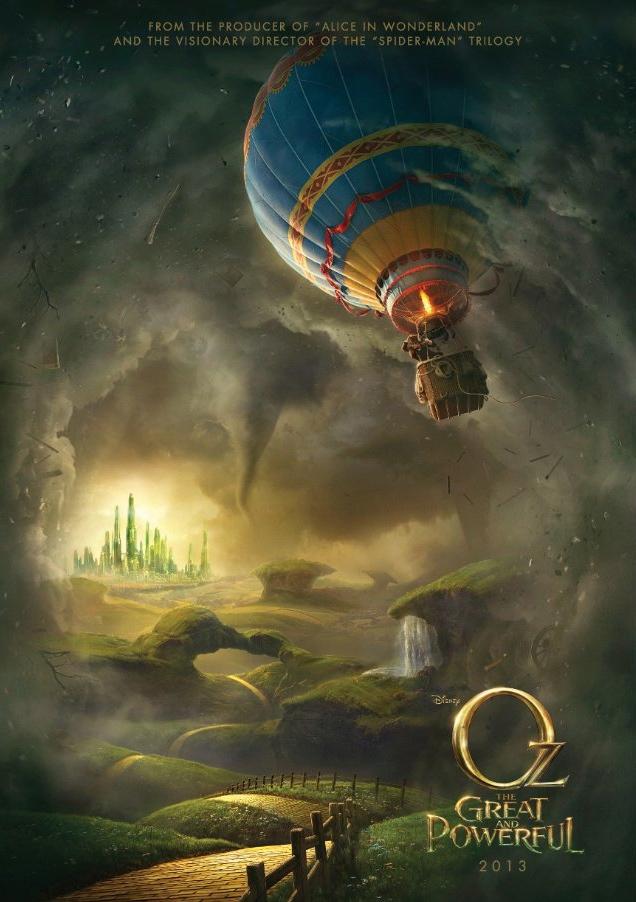 """Cartel de """"Oz, un mundo de fantasía"""", que llegará en 2013. Crédito: Disney."""