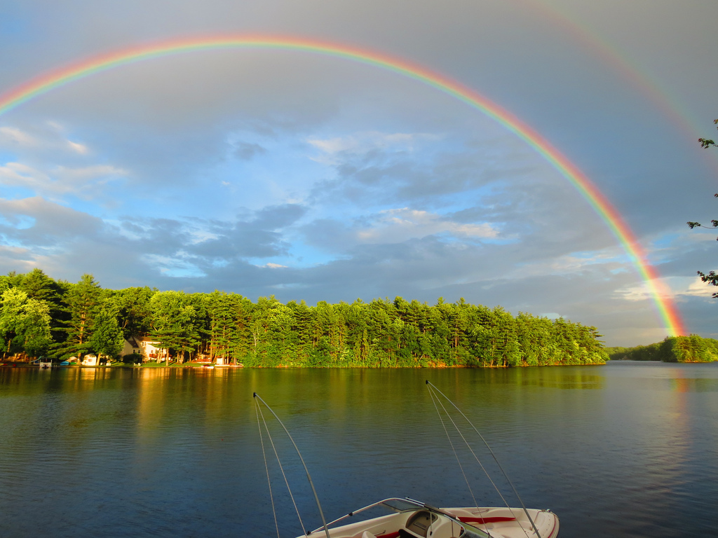 Maravilloso arcoiris en Massachusetts Foto: Jer_Boucher19 CC Flickr.