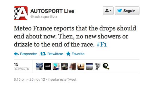 Muchas cuentas anunciaron carrera en seco gracias a Meteo France