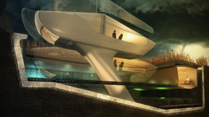 Prototipo de la Tornado House, de Ted Givens. Fuente 10 DESIGN.