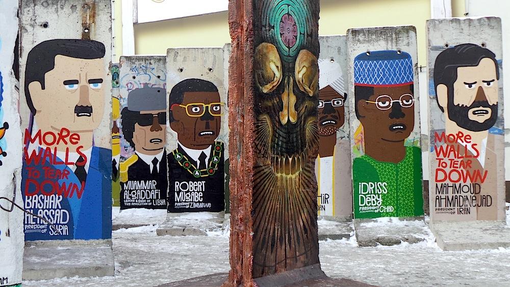 Trozos del muro de Berlín. Foto ER.
