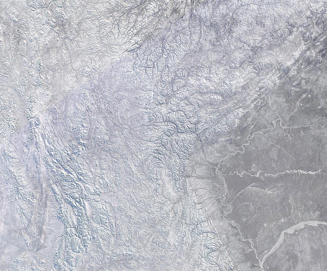 Imagen de satélite de la zona ártica. El Planeta Helado.