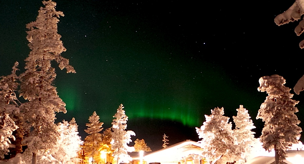 Desde nuestra cabaña en Saariselkä pudimos ver auroras ya el primer día. Foto: ER.