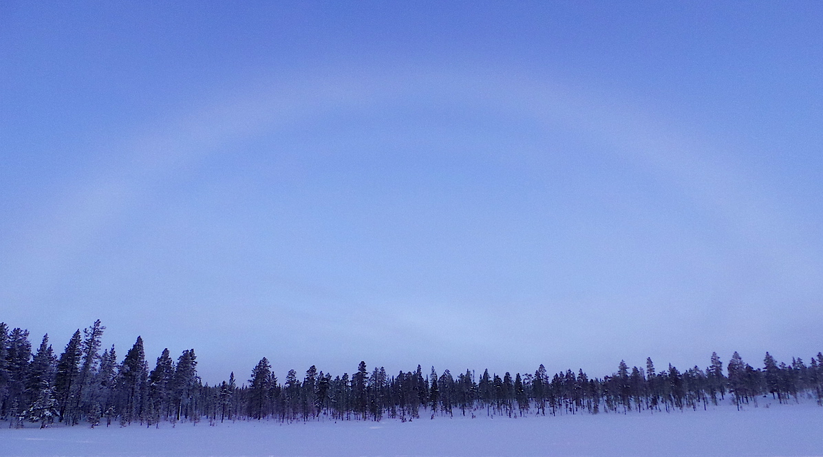 Fogbow en Saariselkä, Finlandia. Foto ER.