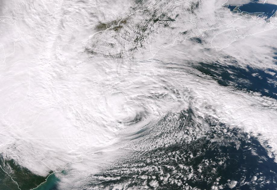Sandy el 29 de Octubre de 2012, visto por el satélite GOES-13. Credito: NOAA