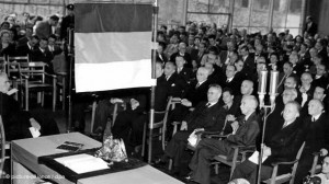La Asamblea Constituyente, en Bonn, en 1949.