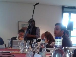 El europarlamentario popular Pablo Zalba interviene en una de las mesas redondas del encuentro.