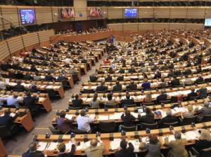 Pleno del Parlamento Europeo en Bruselas.