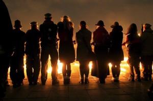 Vigilia por los muertos de la matanza de Katyn (EFE)