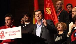 José Luis Centella, durante su intervención en el congreso (foto: PCE)