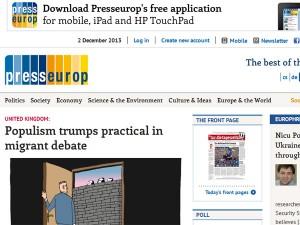 Captura de pantalla de la web de Presseurop