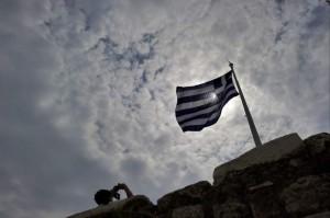 Una bandera de griega (ARCHIVO)