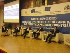Una reunión del Movimiento Europeo en Montenegro, en 2013.  (EMI)