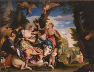 'Un rapto de Europa' atribuido a Alejandro de la Cruz. (Europeana).