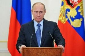Putin, en una rueda de prensa (EFE).