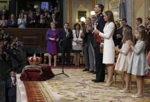 El rey Felipe VI, durante su proclamación (FOTO: EFE)
