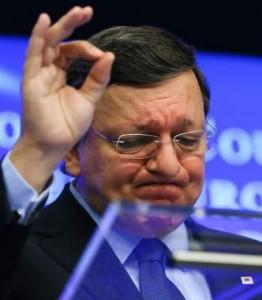 Barroso, durante una rueda de prensa de la CE (foto: EFE)