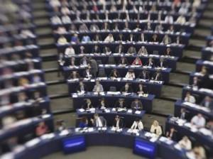 Imagen de la primera sesión plenaria del PE de la nueva legislatura (EFE).