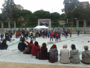 El acto de Podemos, un poco antes de que diera comienzo (NS)