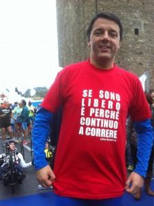 Renzi, corriendo una media maratón (Foto: https://twitter.com/matteorenzi)