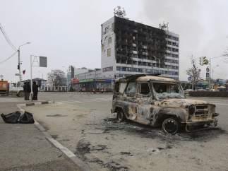 Imagen de Grozni esta semana, tras la 'batalla' entre policías e islamistas (EFE)