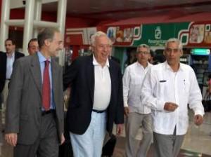 Margallo, con Castro en su visita a Cuba. (EFE).