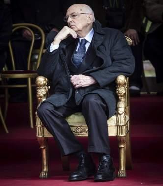 Napolitano, reflexivo, en 2013. (EFE).