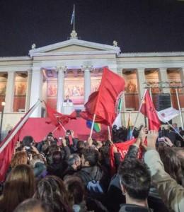 Celebración de la victoria de Syriza en las elecciones Griegas (EFE)