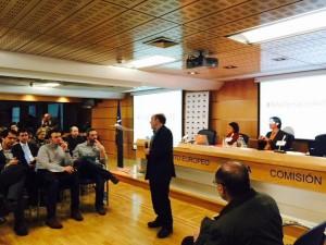 Enrique Guerrero, durante el foro del viernes ( @PE_Espana)