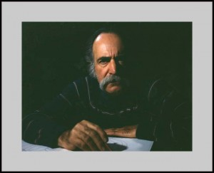William Saroyan, retratado por Paul Kalinian en 1976.