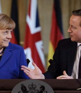 Cameron y Merkel en 2014.